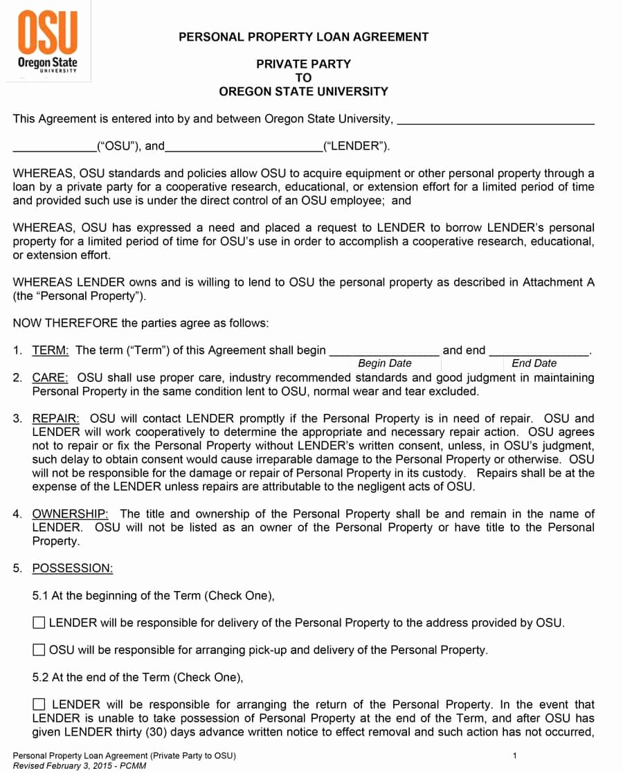 Loan Agreement Template Pdf Lovely 40 Free Loan Agreement Templates [word & Pdf] Template Lab