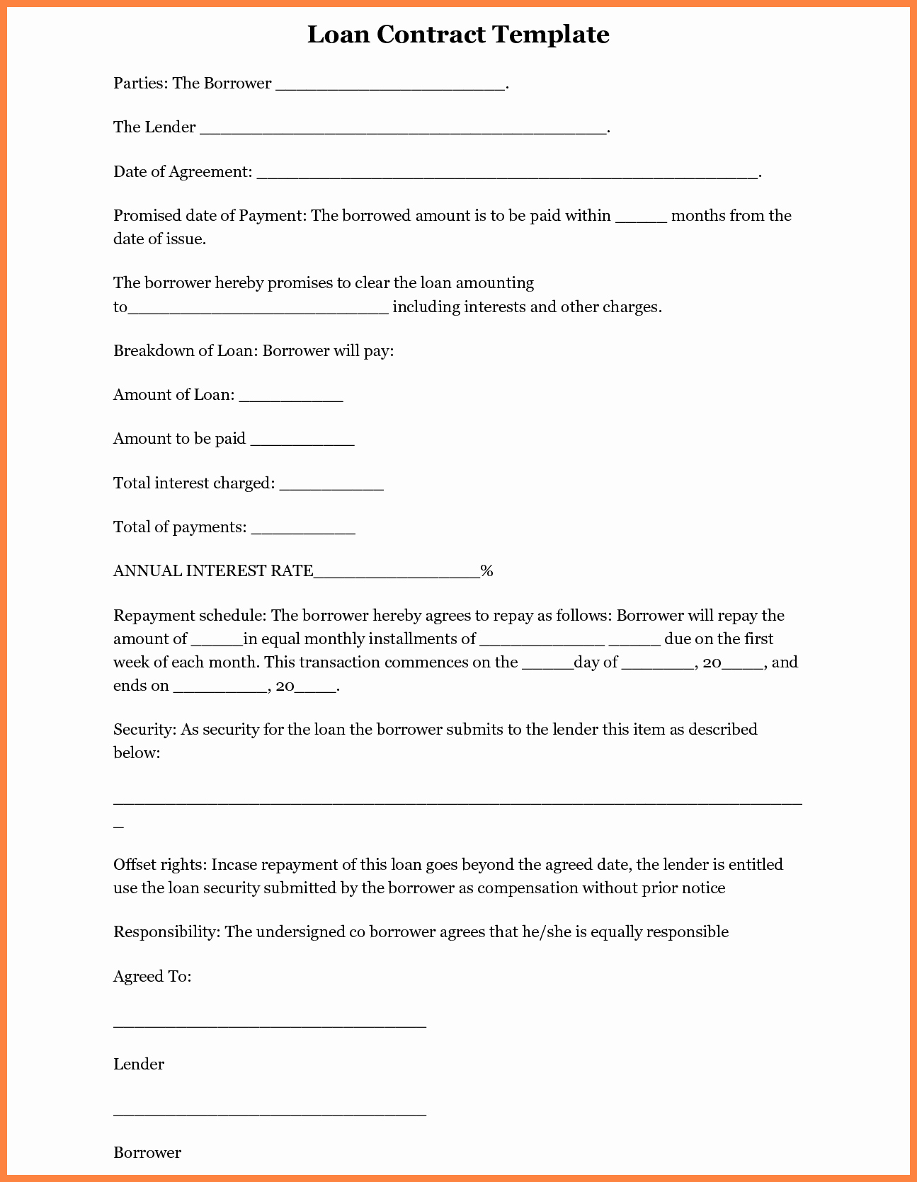 Loan Agreement Template Pdf New 5 Inter Pany Loan Agreement Template