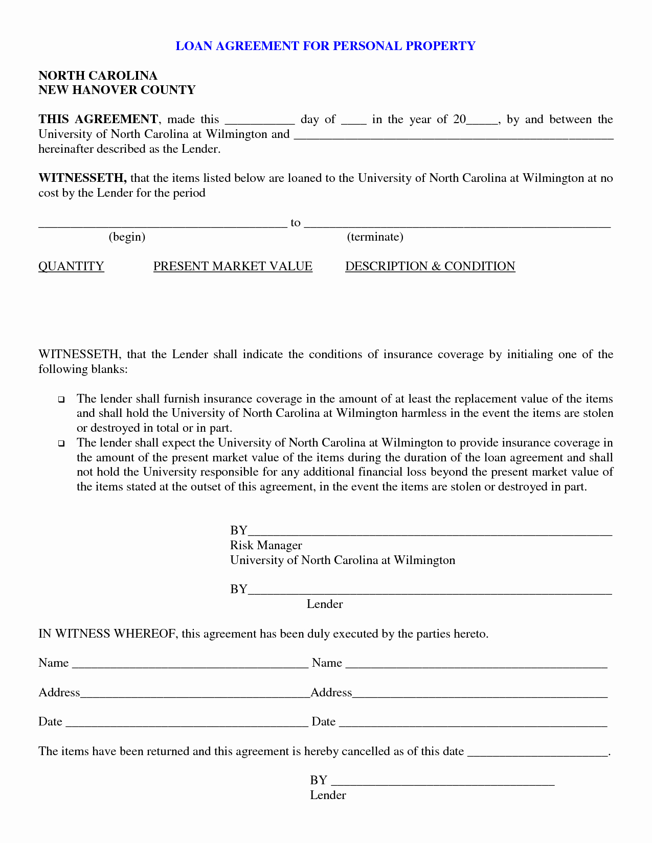 Loan Agreement Template Pdf New Free Printable Loan Agreement form form Generic