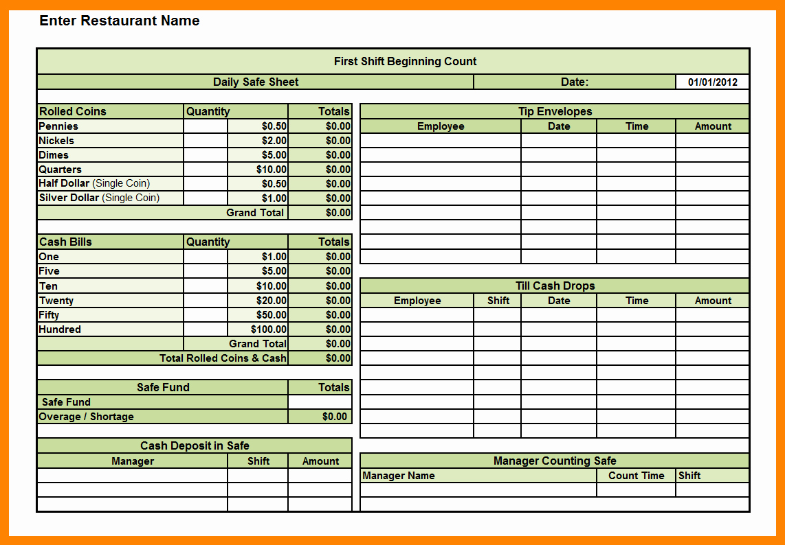 Log Sheet Template Excel Awesome Daily Cash Sheet Template Excel