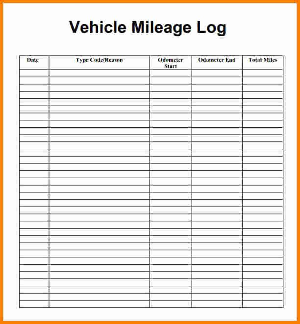 Log Sheet Template Excel Beautiful Excel Mileage Log