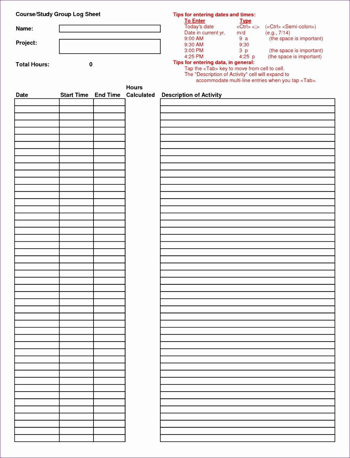 Log Sheet Template Excel Best Of 14 Log Sheet Template Excel Exceltemplates Exceltemplates