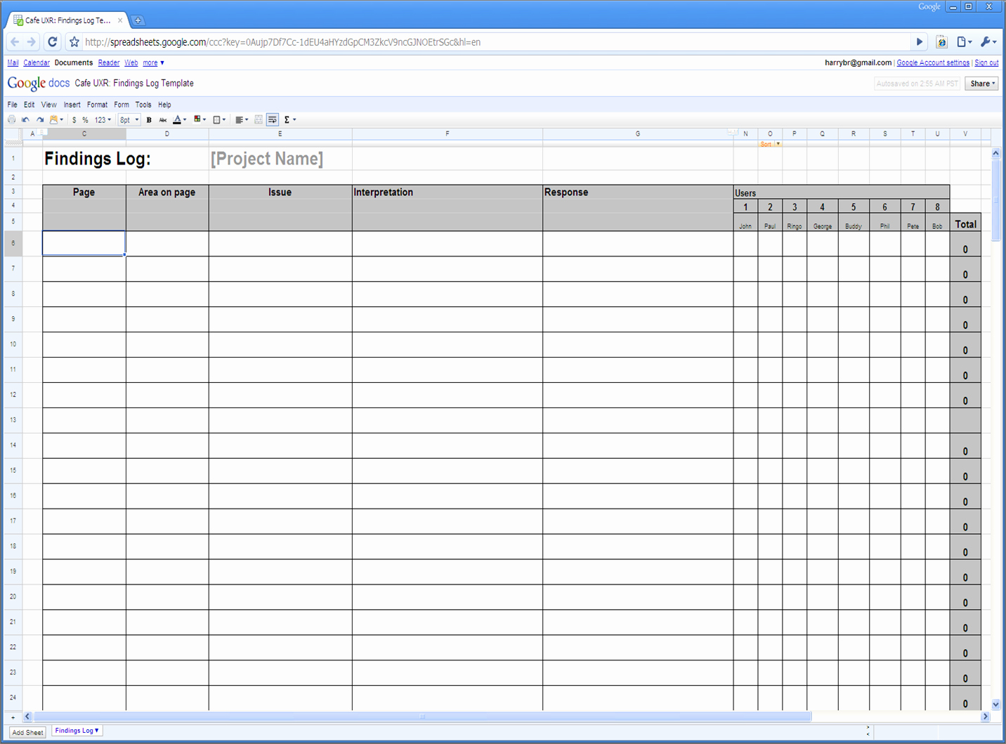 Log Sheet Template Excel Unique A Review Of Whatusersdo A Remote Usability Testing