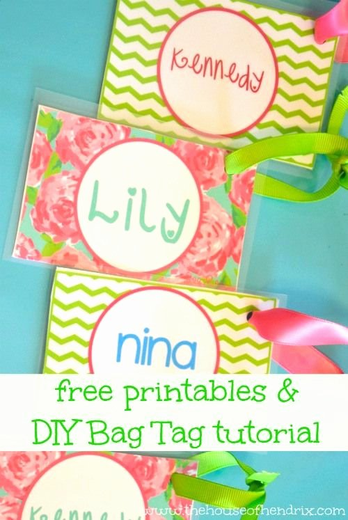 Luggage Name Tag Template Awesome Diy Personalized Bag Tags and Printables for Lunch Box and
