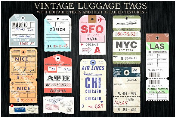 Luggage Name Tag Template Lovely Luggage Tag Template Word