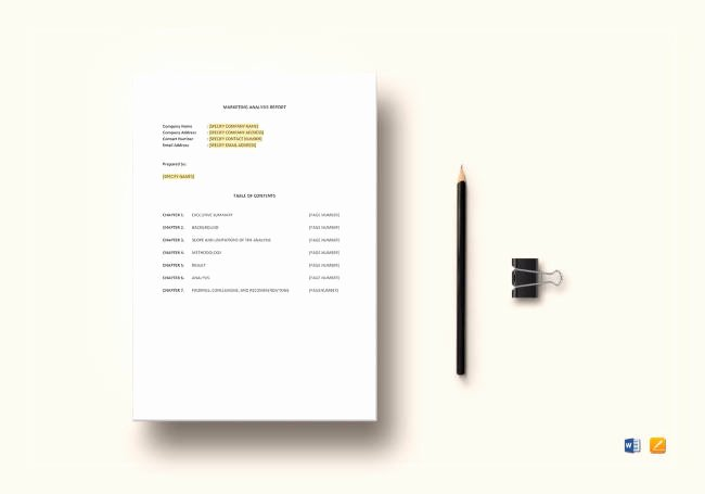 Market Analysis Report Template Awesome 28 Best Report Templates for Small Businesses