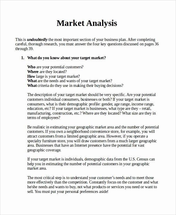 Market Analysis Report Template Elegant 17 Sample Market Analysis Pdf Doc