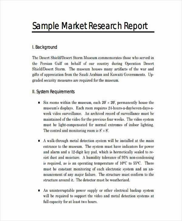 Market Analysis Report Template Lovely Free 14 Research Report Examples In Pdf Word