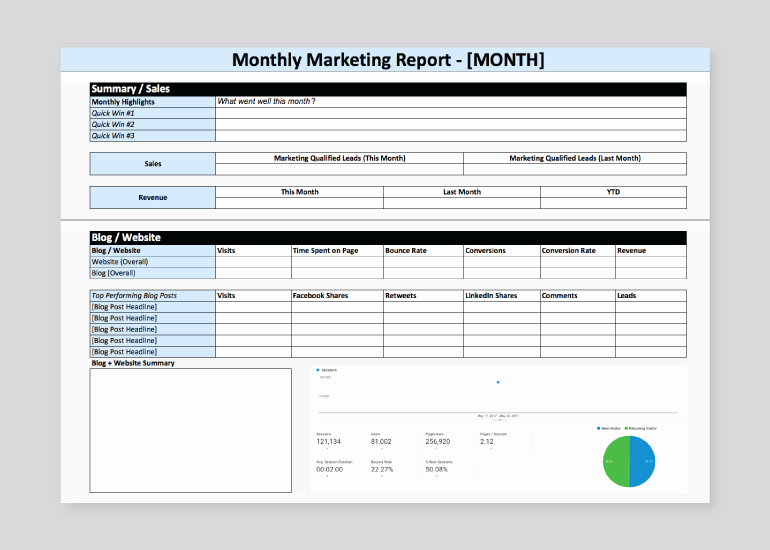 Market Analysis Report Template Lovely How to Build A Marketing Report Quickly Free Template