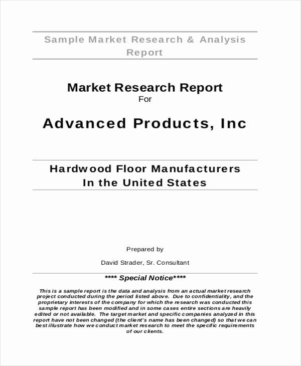 Market Analysis Report Template Unique 40 Market Analysis Templates Pdf Word