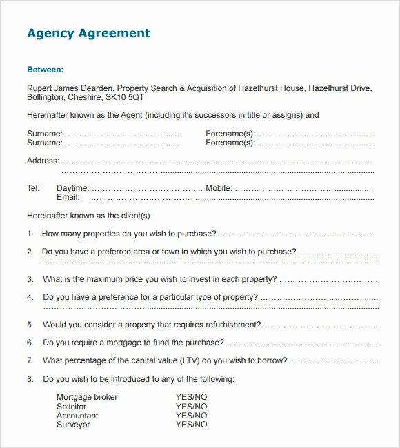 Marketing Agency Agreement Template Lovely 12 Agency Agreement Templates Word Pdf Pages
