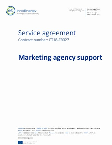 Marketing Agency Agreement Template New Free 15 Marketing Services Agreement Examples & Templates