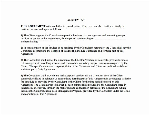 Marketing Agency Agreement Template New Sample Marketing Agreement – 12 Documents In Pdf Word