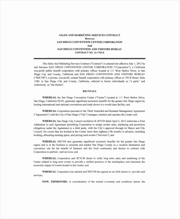 Marketing Agency Agreement Template Unique 21 Marketing Contract Templates – Word Google Docs
