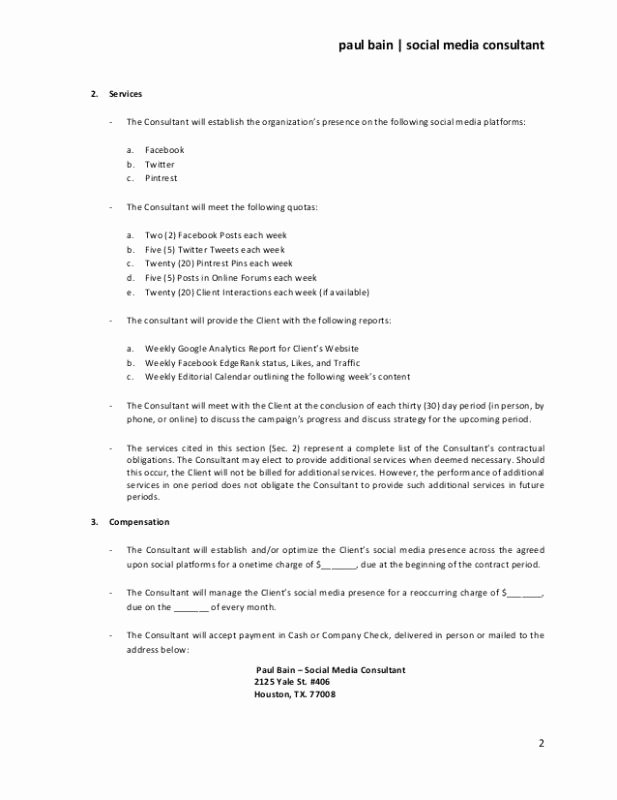 Marketing Consultant Contract Template Fresh Sample Termination Letter without Cause