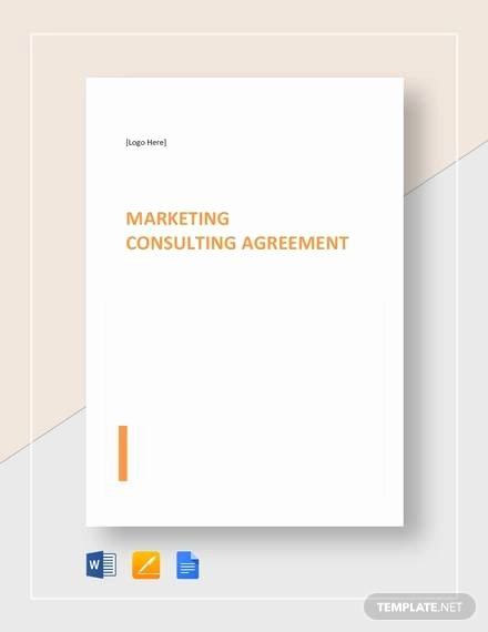 Marketing Consultant Contract Template Lovely Free 30 Sample Marketing Agreement Templates In Google
