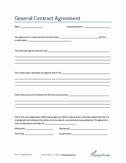 Marketing Consultant Contract Template Lovely General Contract Agreement Template Business Contract