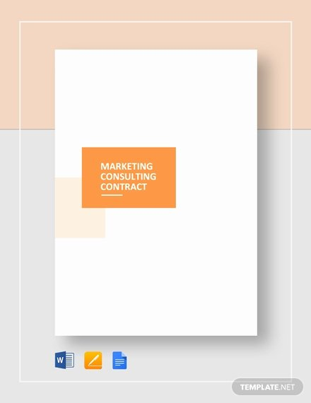 Marketing Consultant Contract Template New Consulting Services Proposal Template Word