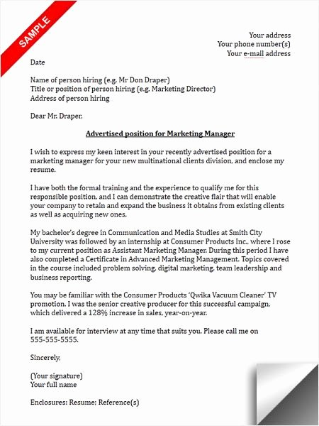 Marketing Cover Letter Template Elegant 117 Best Images About Cover Letter Sample On Pinterest