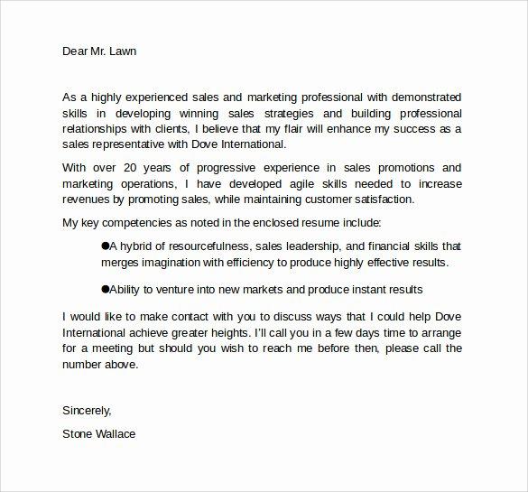 Marketing Cover Letter Template Unique Sample Marketing Cover Letter Template 9 Download Free