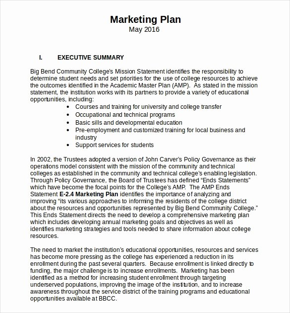 Marketing Plan Template Word Best Of 18 Microsoft Word Marketing Plan Templates