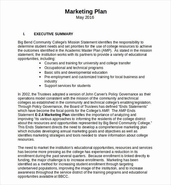 Marketing Plan Template Word Best Of 18 Microsoft Word Marketing Plan Templates