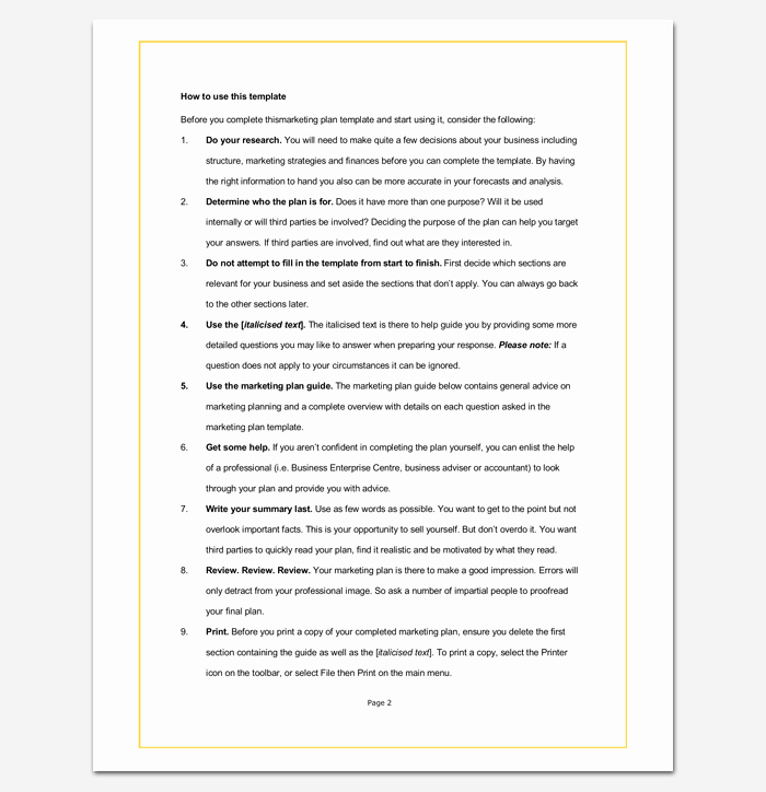 Marketing Plan Template Word Best Of Marketing Plan Outline Template 16 Examples for Word