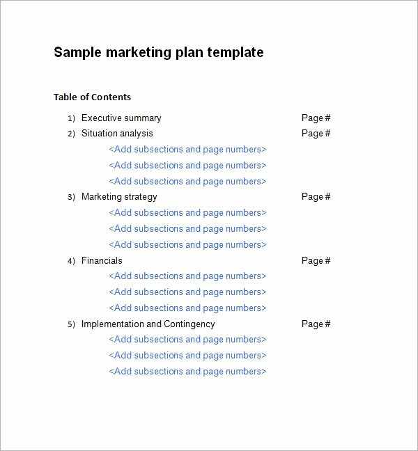Marketing Plan Template Word Elegant Sample Marketing Plan Template 19 Free Documents In