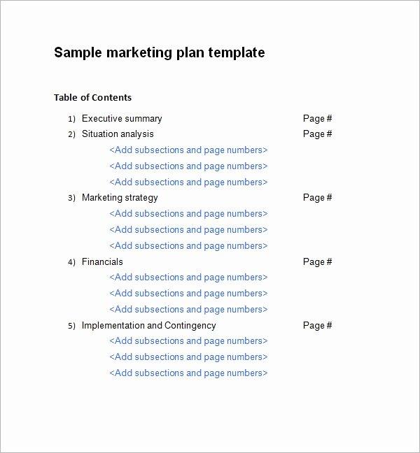 Marketing Plan Template Word Elegant Sample Marketing Plan Template 19 Free Documents In