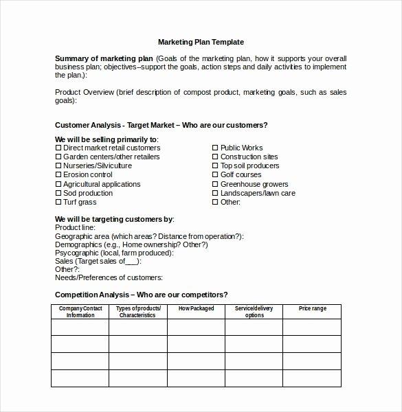 Marketing Plan Template Word New 31 Microsoft Word Marketing Plan Templates