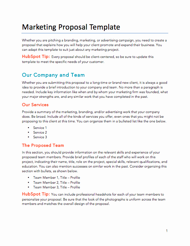 Marketing Proposal Template Word Awesome Free Proposals Estimates Quotes Pdf & Word Template