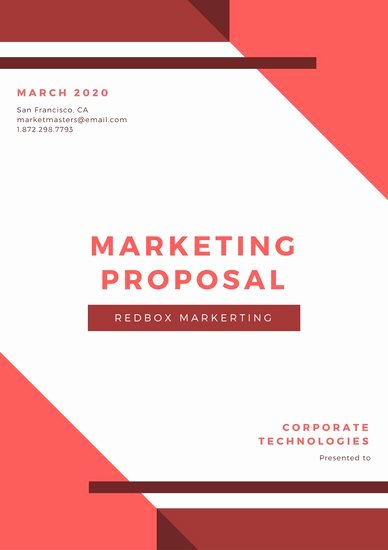 Marketing Proposal Template Word Elegant Customize 111 Marketing Proposal Templates Online Canva