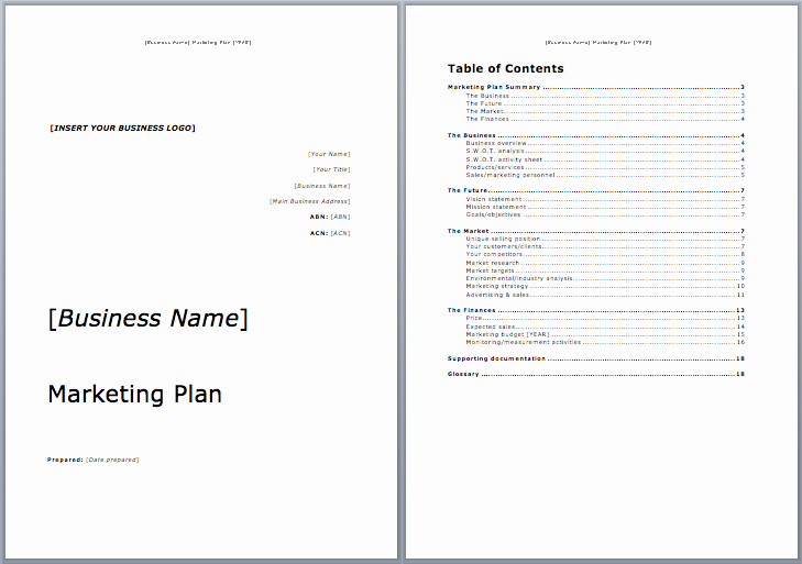 Marketing Proposal Template Word Elegant Marketing Plan Template Microsoft Word Templates