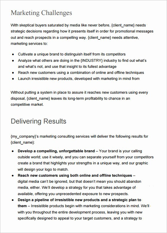 Marketing Proposal Template Word Fresh Sample Marketing Proposal Template 24 Documents In Pdf