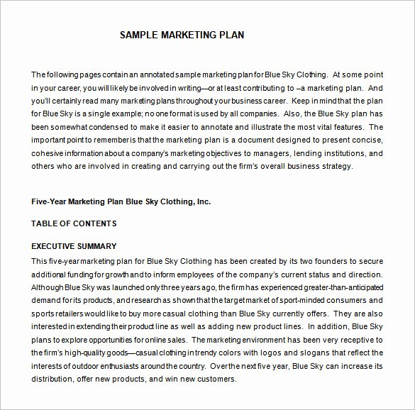Marketing Proposal Template Word Inspirational Marketing Proposal Template 34 Free Sample Example