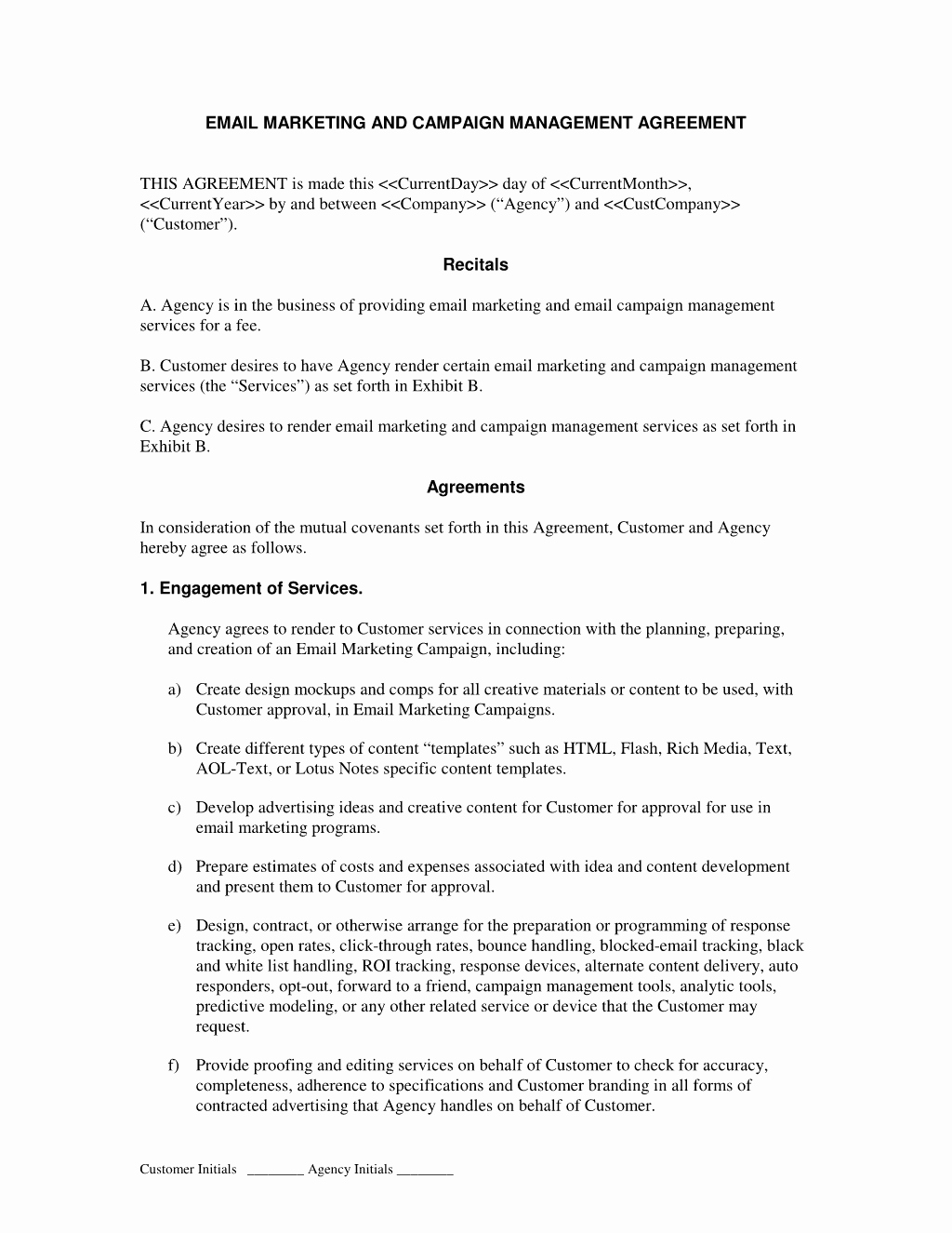 Marketing Service Agreement Template Beautiful How to Write Your Own Email Marketing and Campaign