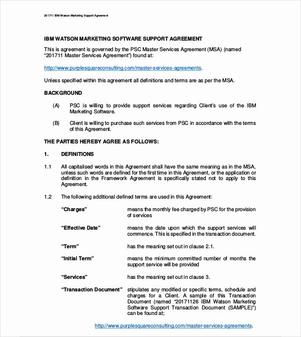 Marketing Service Agreement Template Elegant 8 Marketing Services Agreement Templates Pdf Doc