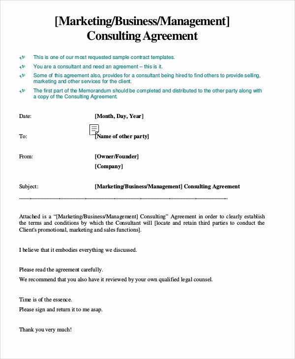 Marketing Service Agreement Template Fresh Sample Marketing Consulting Agreement 13 Documents In Pdf