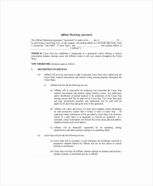 Marketing Service Agreement Template Inspirational Marketing Agreement Template 24 Word Excel Pdf