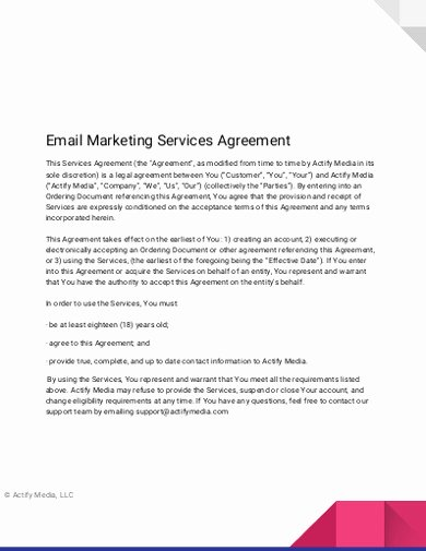 Marketing Service Agreement Template Lovely Free 15 Marketing Services Agreement Examples & Templates
