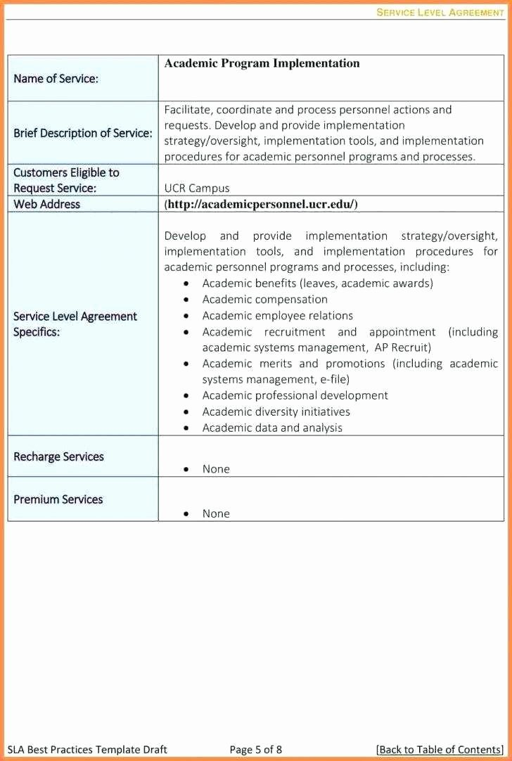 Marketing Service Agreement Template Unique Marketing Service Level Agreement Template New Cool Sla