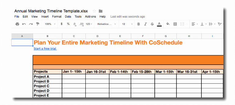 Marketing Timeline Template Excel Fresh Marketing Timelines How to Develop them the Best Way