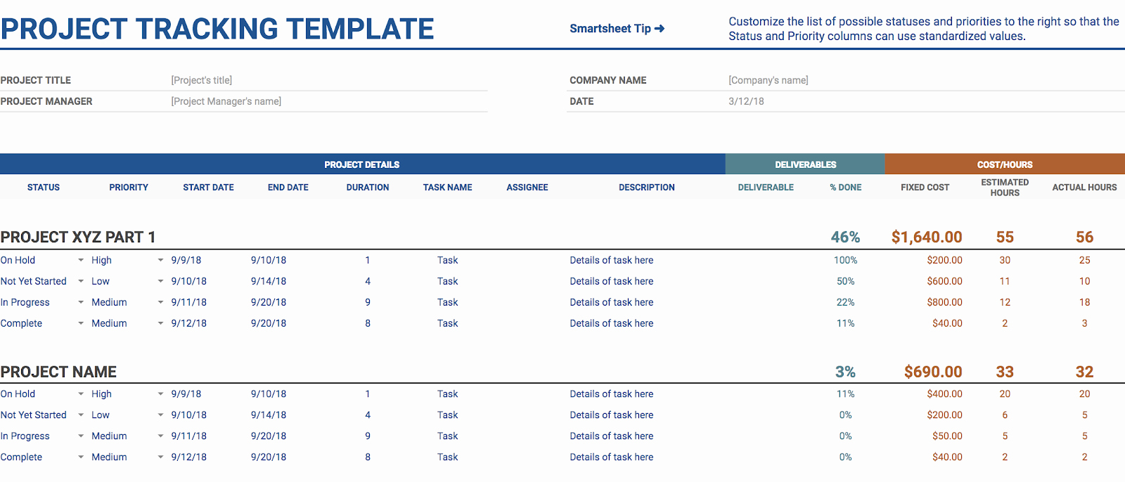 Marketing Timeline Template Excel Inspirational 11 Of the Best Free Google Sheets Templates for 2019