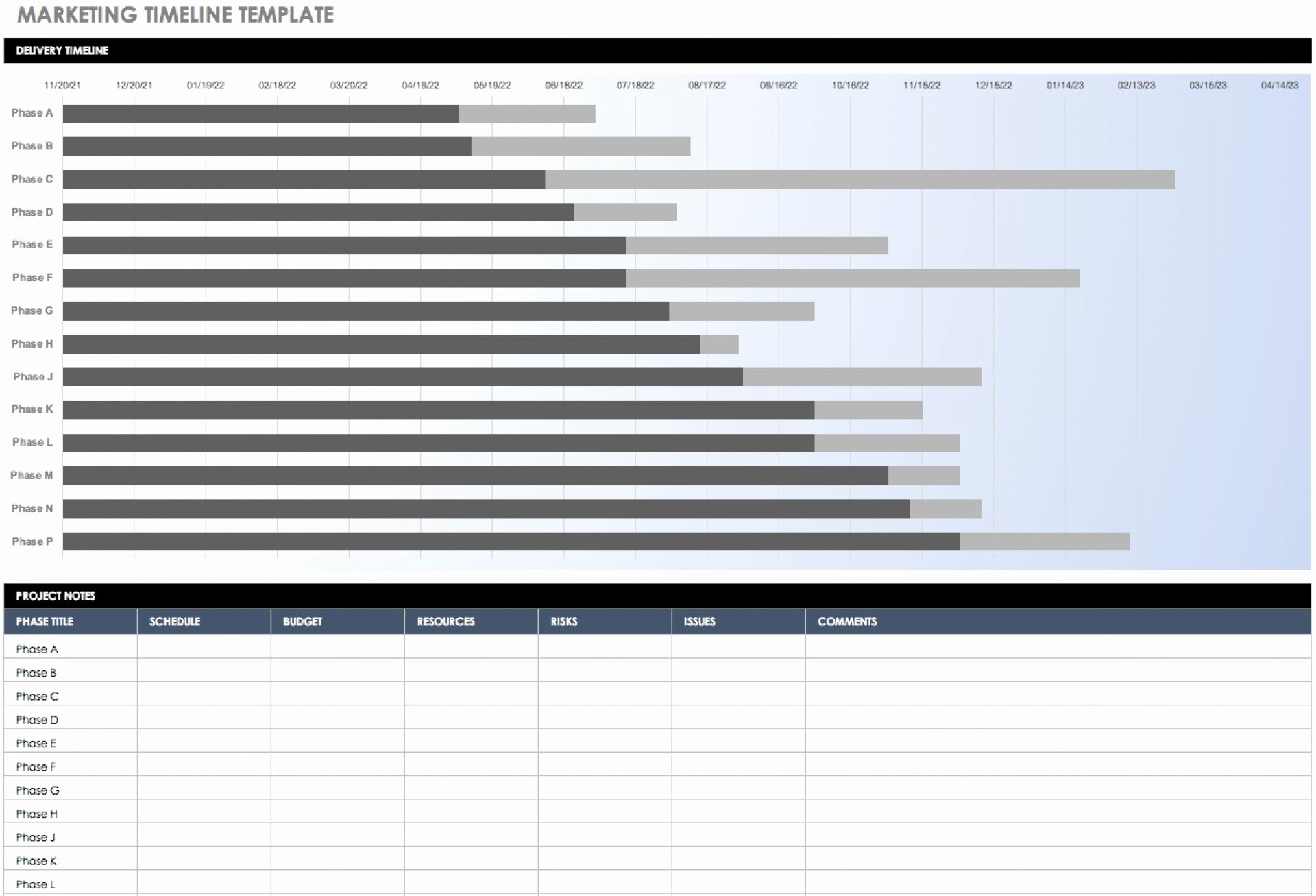 Marketing Timeline Template Excel Luxury 014 Marketing Plan Adviso Infographic Objective Tactic
