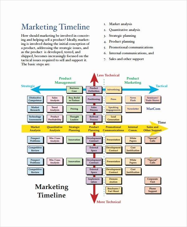 Marketing Timeline Template Excel Luxury Sample Timeline 20 Documents In Pdf Word Ppt Excel