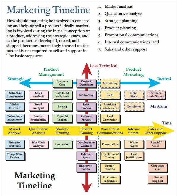 Marketing Timeline Template Excel Unique Marketing Timeline 10 Free Download for Pdf Doc Excel