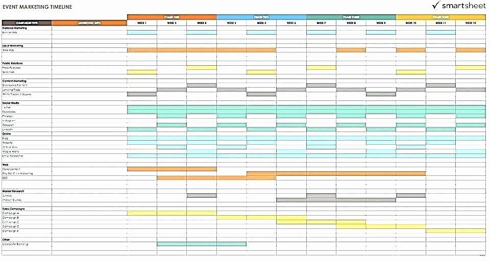 Marketing Timeline Template Excel Unique Marketing Timeline Template