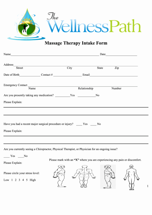 Massage therapy Intake form Template Best Of 31 Massage Intake form Templates Free to In Pdf