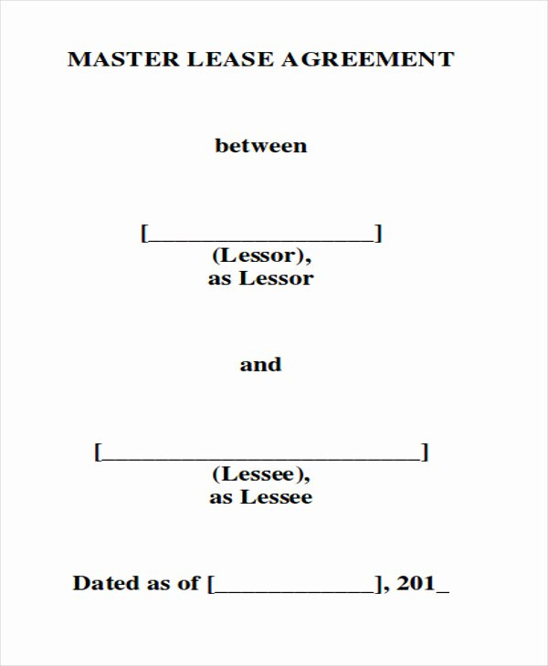 Master Lease Agreement Template Beautiful 8 Master Lease Agreement Sample Examples In Word Pdf