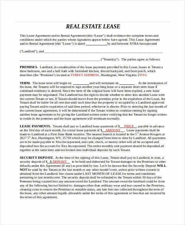 Master Lease Agreement Template Elegant 24 Lease Agreement forms In Doc